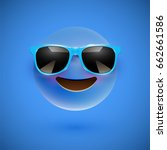 blue 3d emoticon with... | Shutterstock .eps vector #662661586