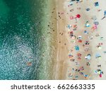 top view of umbrellas in a... | Shutterstock . vector #662663335