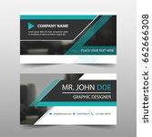 green corporate business card ... | Shutterstock .eps vector #662666308
