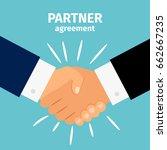 business partnership handshake... | Shutterstock .eps vector #662667235