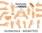 hands gestures isolated on... | Shutterstock .eps vector #662667322