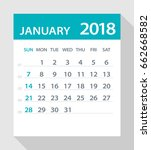 january 2018 calendar leaf