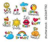 big set of vector stickers ... | Shutterstock .eps vector #662669782