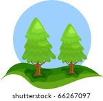 two conifers   christmas trees... | Shutterstock .eps vector #66267097
