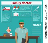 family doctor and medical... | Shutterstock .eps vector #662674255