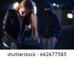 stalker persecuting woman