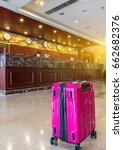 luggage in the hotel lobby ... | Shutterstock . vector #662682376