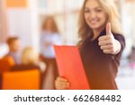 portrait of young business... | Shutterstock . vector #662684482