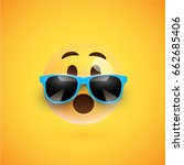 yellow 3d smiley with... | Shutterstock .eps vector #662685406