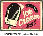 retro fifties tin sign with... | Shutterstock .eps vector #662687452