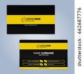business card template. yellow... | Shutterstock .eps vector #662687776