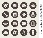 pet shop vector icon set | Shutterstock .eps vector #662688832