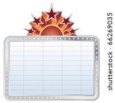 vector silver blank cinema... | Shutterstock .eps vector #66269035
