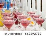 cosmopolitan red cocktails... | Shutterstock . vector #662692792