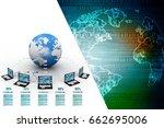3d rendering computer network | Shutterstock . vector #662695006