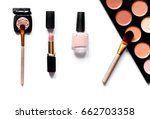 decorative cosmetics nude on... | Shutterstock . vector #662703358