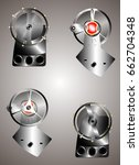 clock work mechanism gears and...   Shutterstock .eps vector #662704348