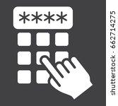 hand finger entering pin code... | Shutterstock .eps vector #662714275