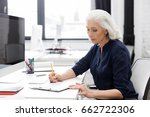 mature business woman making... | Shutterstock . vector #662722306