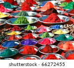colorful tika powders on indian ... | Shutterstock . vector #66272455