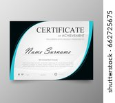 certificate premium template... | Shutterstock .eps vector #662725675