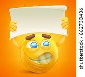 yellow smiley cartoon character ... | Shutterstock .eps vector #662730436