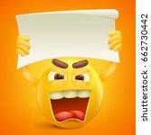 yellow smiley cartoon character ... | Shutterstock .eps vector #662730442