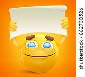 yellow smiley cartoon character ... | Shutterstock .eps vector #662730526
