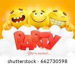 party invitation card template... | Shutterstock .eps vector #662730598