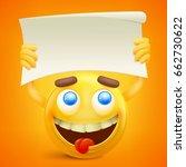 yellow smiley cartoon character ... | Shutterstock .eps vector #662730622