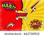 comic expressions background | Shutterstock .eps vector #662730922