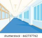 interior of school hall with... | Shutterstock .eps vector #662737762