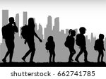 people travel on the city.   Shutterstock .eps vector #662741785