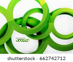 vector 3d rings and swirls... | Shutterstock .eps vector #662742712