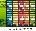 mega collection and mega set... | Shutterstock .eps vector #662755972