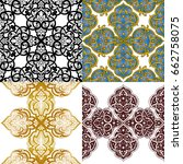 seamless abstract ornate pattern | Shutterstock .eps vector #662758075