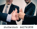 many business people are... | Shutterstock . vector #662761858