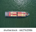 aeriel view container shipping... | Shutterstock . vector #662762086