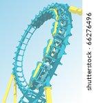 looping roller coaster | Shutterstock .eps vector #66276496