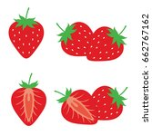strawberry fruit illustration... | Shutterstock .eps vector #662767162