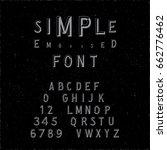 hand crafted modern font...   Shutterstock .eps vector #662776462