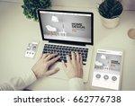 business  technology and...   Shutterstock . vector #662776738