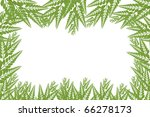 green leaf isolated on white... | Shutterstock . vector #66278173