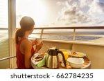 cruise ship luxury travel woman ...   Shutterstock . vector #662784235
