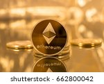 Stack Of Ether Coins Or...