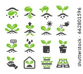 sprout plant icon | Shutterstock .eps vector #662801596