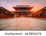 tokyo  japan   sensoji ji... | Shutterstock . vector #662802676