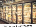 blur frozen food section at... | Shutterstock . vector #662802772