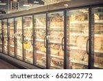 blur frozen food section at...   Shutterstock . vector #662802772
