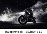 high power motorcycle chopper... | Shutterstock . vector #662804812
